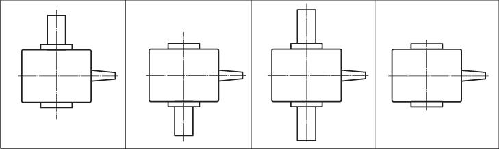 Варианты сборки червячных мотор-редукторов МЧ2
