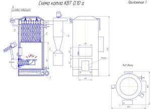 Схема котла КВТ 0.10А