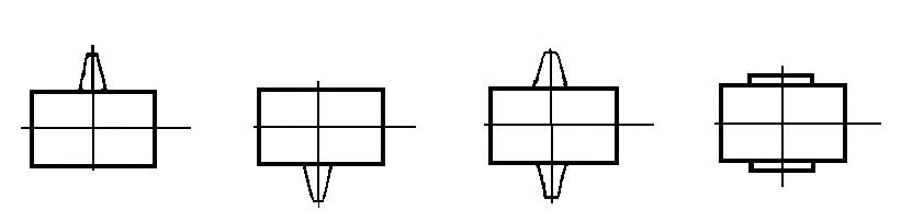 Варианты сборки мотор-редуктора типа МЦ2Ч
