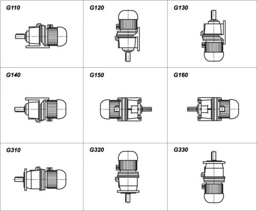 Способы монтажа мотор-редуктора 3МП